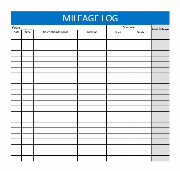 Free Mileage Log Template Unique 13 Sample Mileage Log Templates to Download