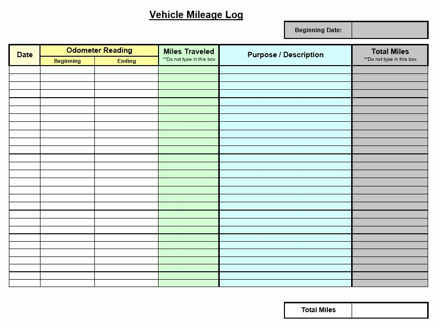Free Mileage Log Template Unique 8 Free Sample Mileage Log Templates Printable Samples