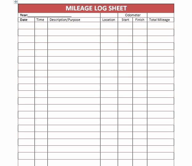 Free Mileage Log Templates Awesome 30 Printable Mileage Log Templates Free Template Lab