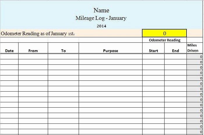 Free Mileage Log Templates Beautiful 30 Printable Mileage Log Templates Free Template Lab