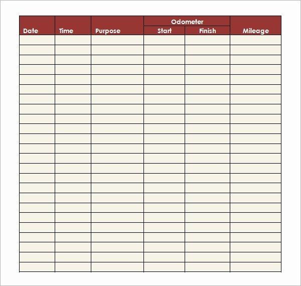 Free Mileage Log Templates Elegant Mileage Log Template 14 Download Free Documents In Pdf Doc