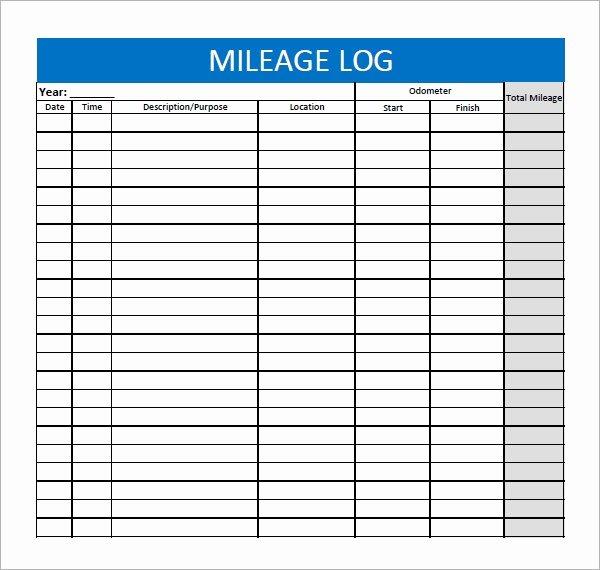 Free Mileage Log Templates Fresh 13 Sample Mileage Log Templates to Download