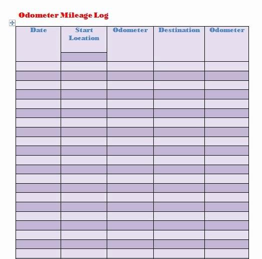 Free Mileage Log Templates Fresh 30 Printable Mileage Log Templates Free Template Lab