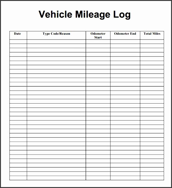Free Mileage Log Templates Inspirational 11 Vehicle Mileage Log Example Sampletemplatess