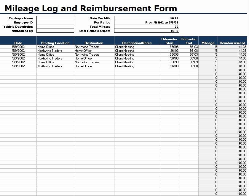 Free Mileage Log Templates Inspirational 8 Free Sample Mileage Log Templates Printable Samples
