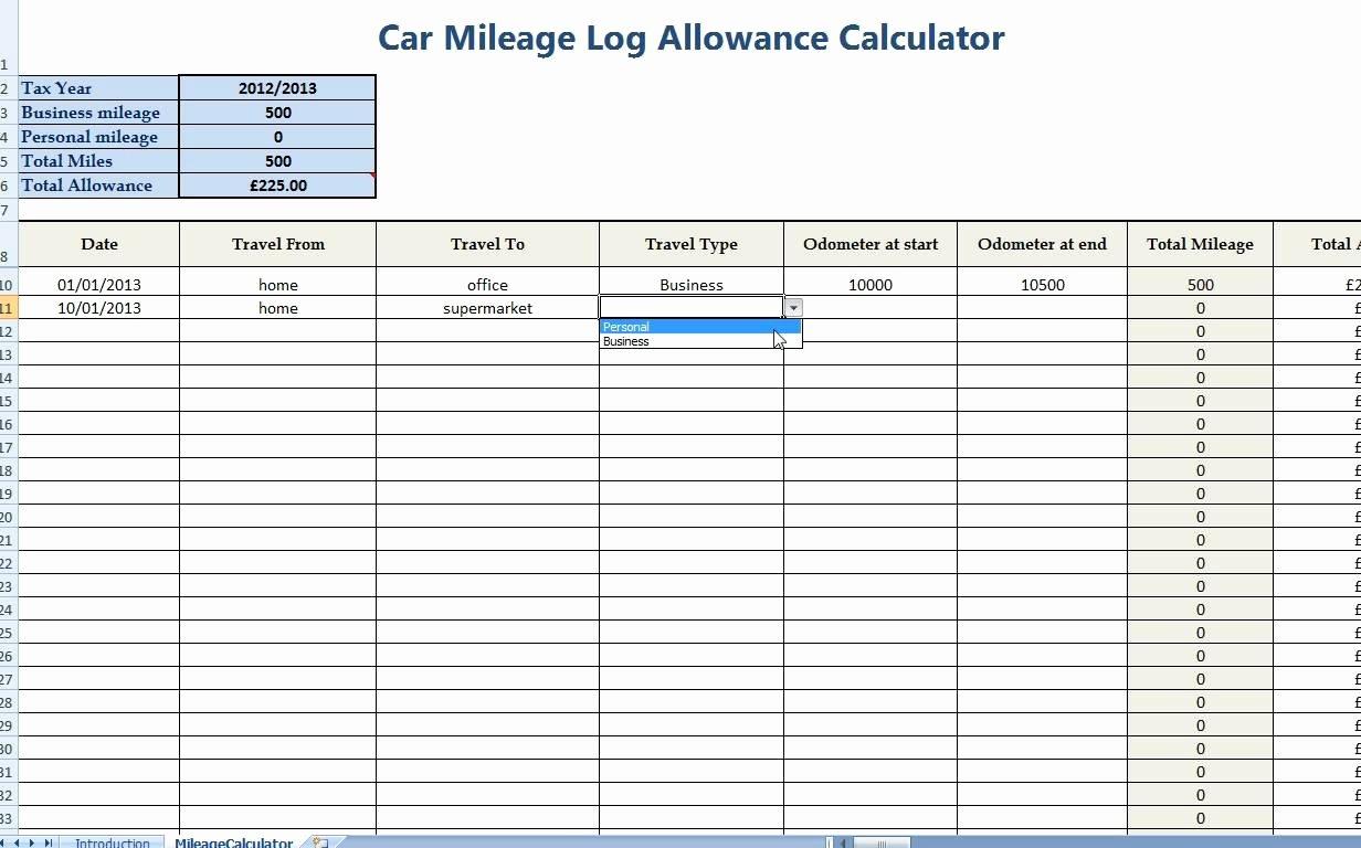 Free Mileage Log Templates Inspirational Line Mileage Log Spreadsheet Google Spreadshee Online