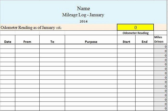 Free Mileage Log Templates Lovely Free Mileage Log Templates Word Excel Template Section