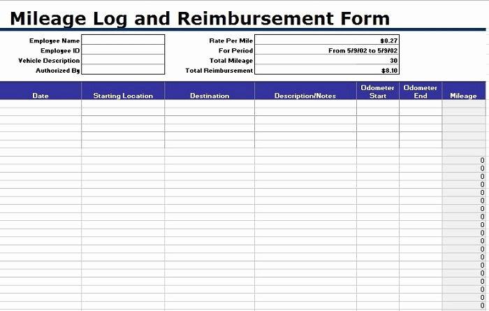 Free Mileage Log Templates Luxury 30 Printable Mileage Log Templates Free Template Lab