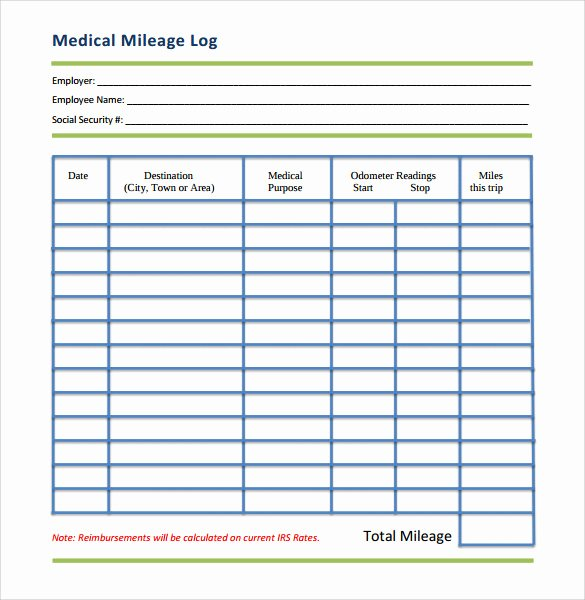 Free Mileage Log Templates New 13 Sample Mileage Log Templates to Download