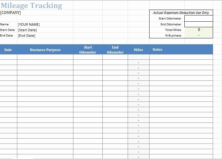 Free Mileage Log Templates New 30 Printable Mileage Log Templates Free Template Lab