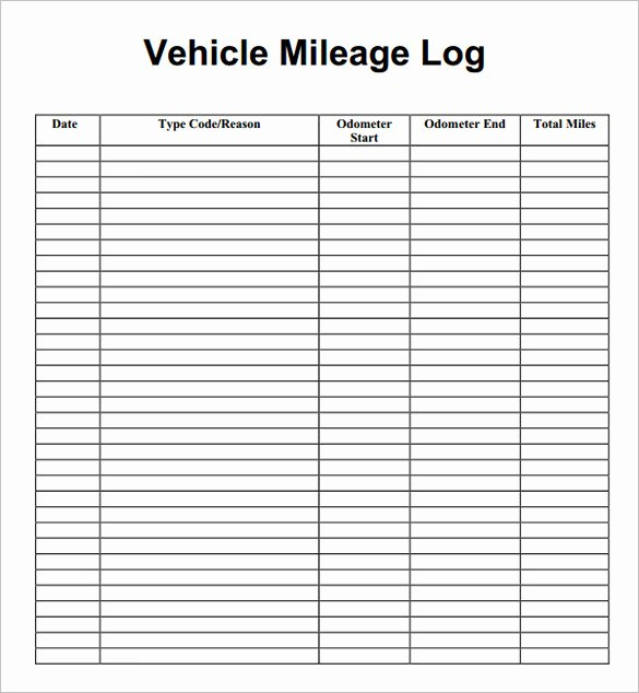 Free Mileage Log Templates New Excel Mileage Log