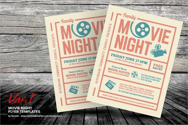 Free Movie Night Flyer Template Luxury Movie Night Flyer Template 17 Download In Vector Eps