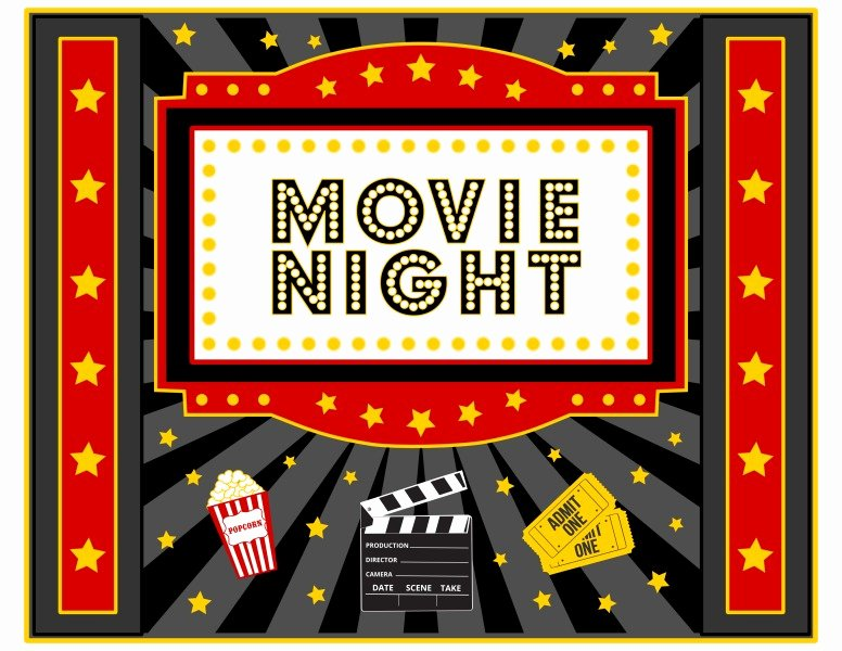 Free Movie Night Flyer Template Unique Free Movie Night Party Printables by Printabelle