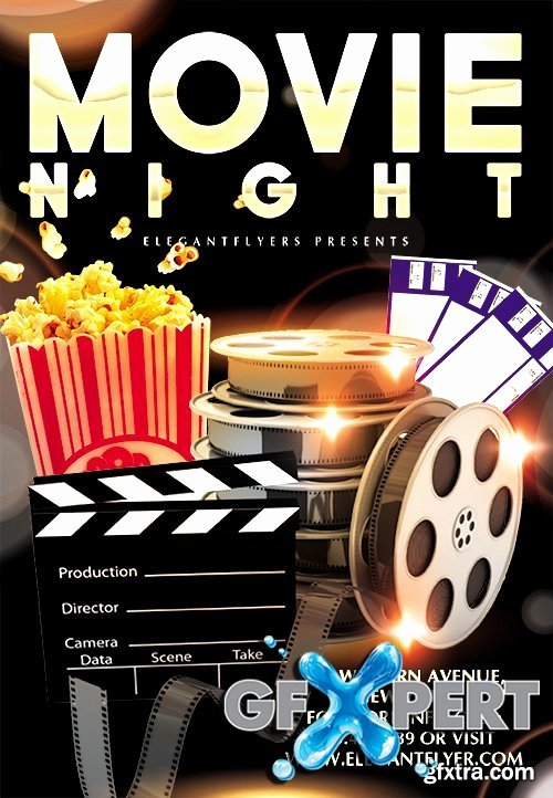 Free Movie Night Flyer Templates Awesome 29 Of Family Movie Night Template Editable