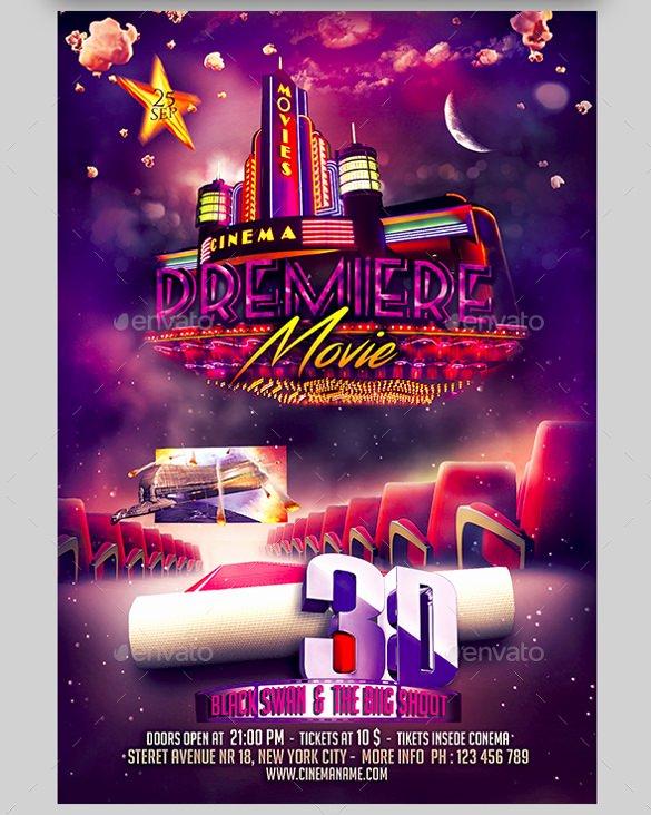 Free Movie Night Flyer Templates Beautiful 20 Movie Night Flyer Templates Ai Psd Word
