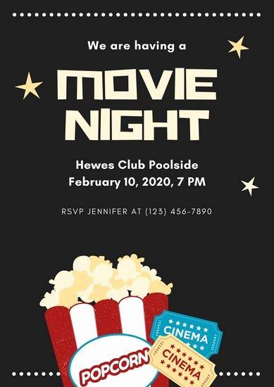 Free Movie Night Flyer Templates Beautiful Customize 646 Movie Night Invitation Templates Online Canva