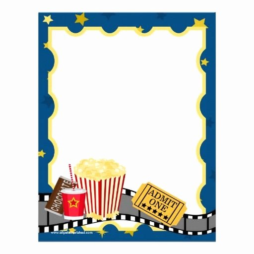 Free Movie Night Flyer Templates Best Of Popcorn Template