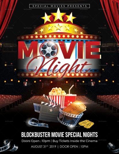 Free Movie Night Flyer Templates Elegant Printable Movie Night Flyer Template
