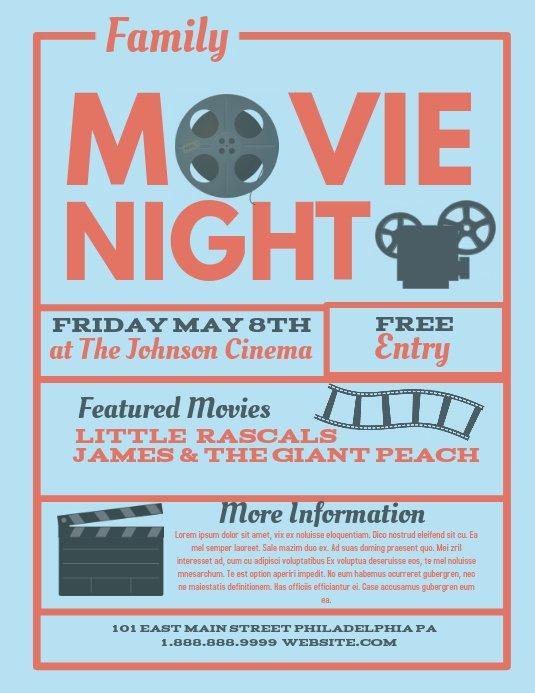 Free Movie Night Flyer Templates Fresh Movie Night Template