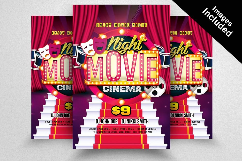 Free Movie Night Flyer Templates Inspirational Movie Night Flyer Template