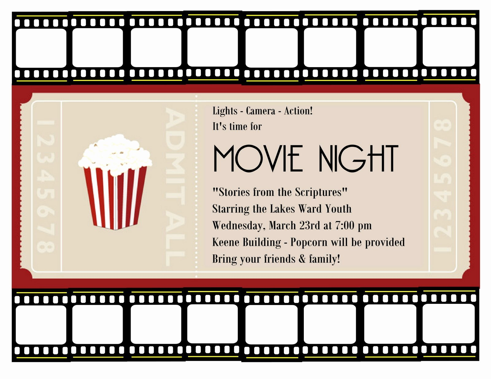 Free Movie Night Flyer Templates New A Place for the Lady Good Times at Church