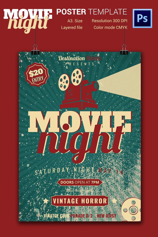 Free Movie Night Flyer Templates New Movie Night Flyer Template 25 Free Jpg Psd format