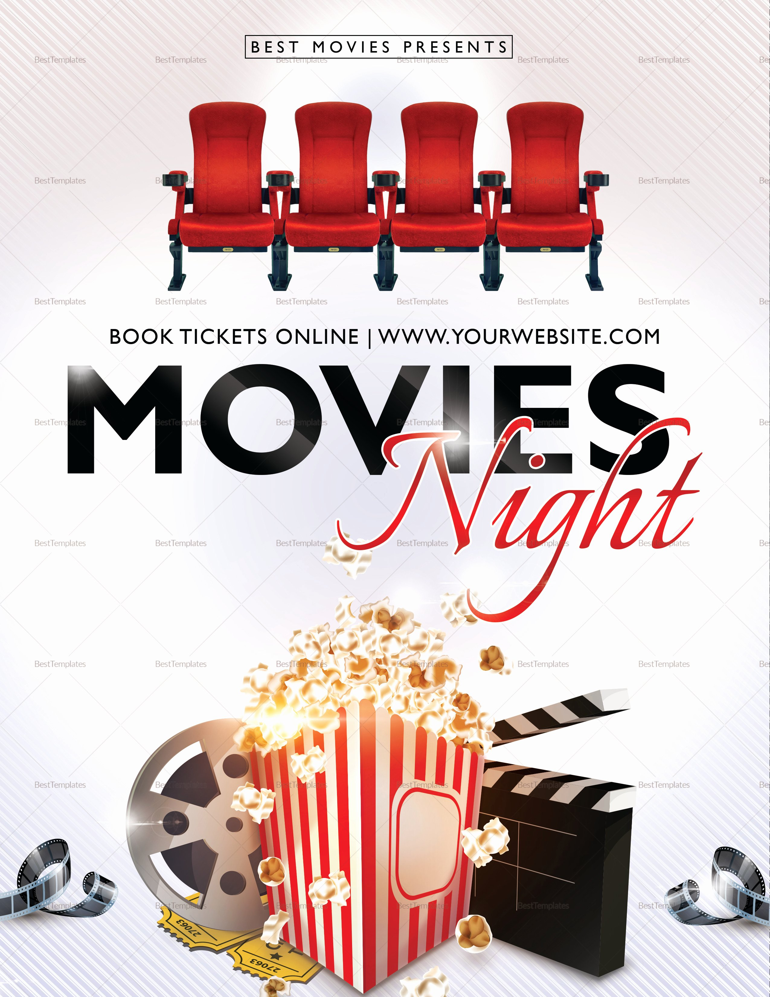 Free Movie Night Flyer Templates Unique Best Movie Night Flyer Design Template In Psd Publisher Word