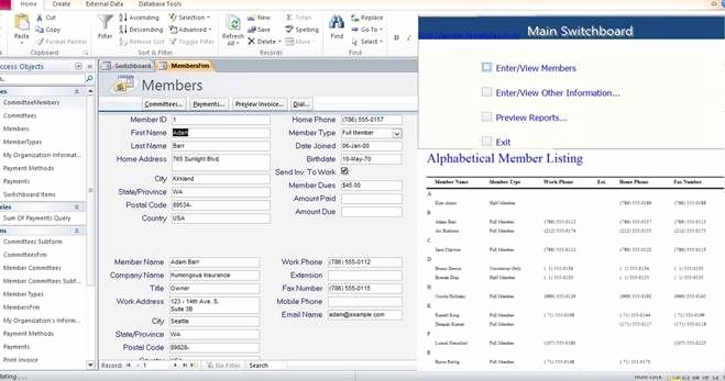 Free Ms Access Templates Inspirational Access Database Membership Tracking Templates Examples