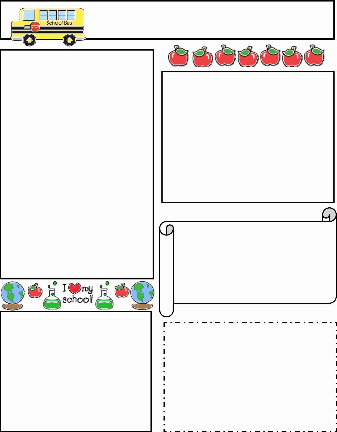Free Newsletter Templates for Preschool Awesome Free Editable Newsletter Templates for Word