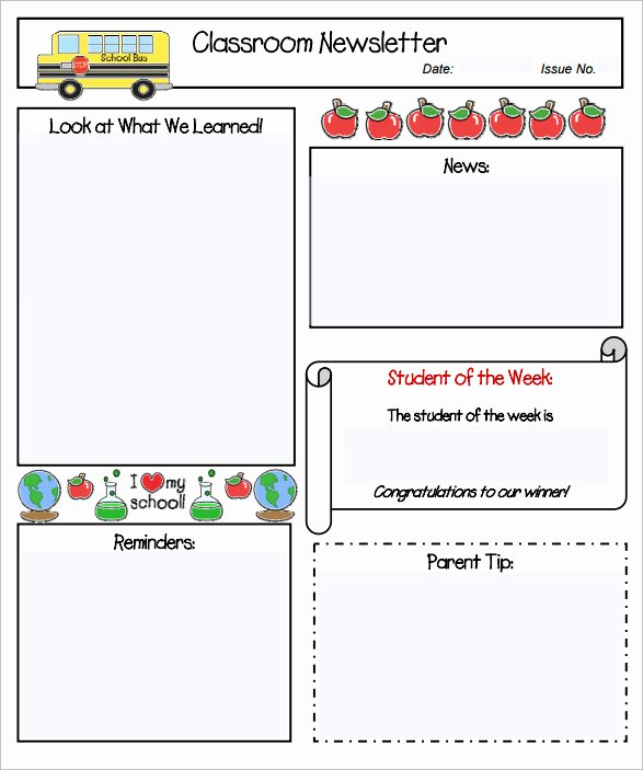 Free Newsletter Templates for Preschool Awesome Free Preschool Newsletter Templates