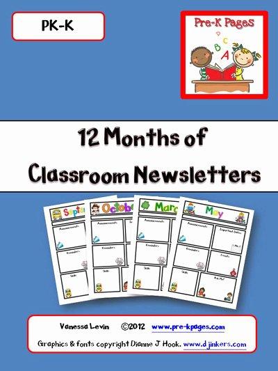 Free Newsletter Templates for Preschool Best Of Printable Classroom Newsletters Preschool Kindergarten