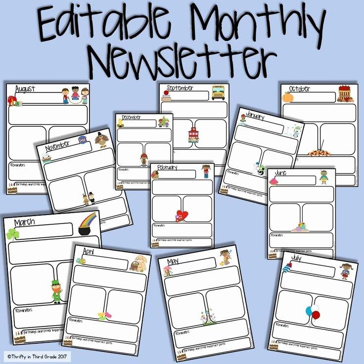 Free Newsletter Templates for Preschool Inspirational Best 25 Preschool Newsletter Ideas On Pinterest