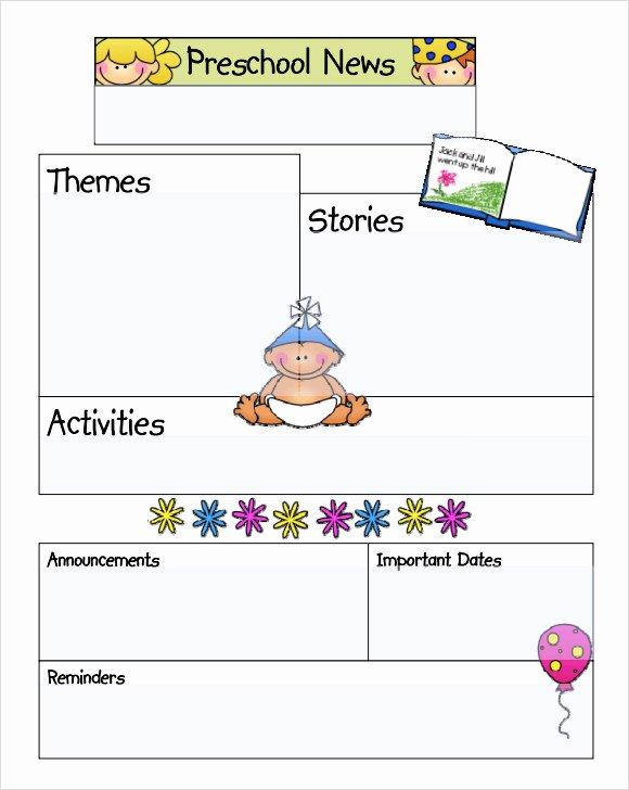 Free Newsletter Templates for Preschool Inspirational Sample Kindergarten Newsletter Template 15 Free