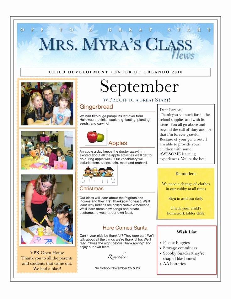 Free Newsletter Templates for Preschool Lovely 25 Best Ideas About Preschool Newsletter On Pinterest