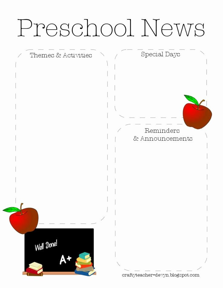 Free Newsletter Templates for Preschool Luxury 1000 Images About Newsletter Template On Pinterest