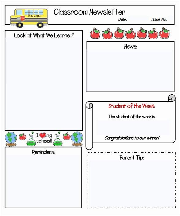 Free Newsletter Templates for Preschool New Sample Kindergarten Newsletter Template 15 Free