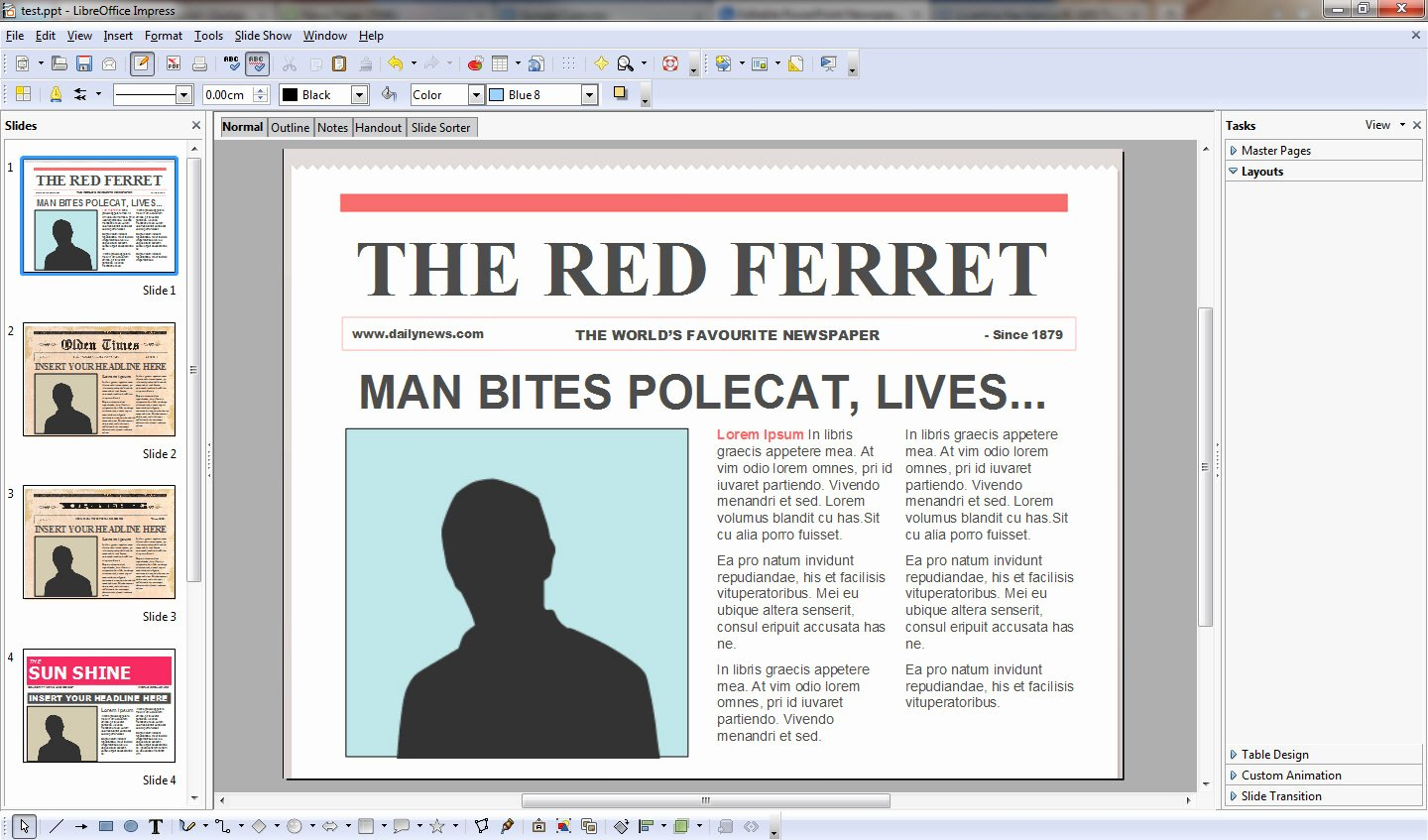 Free Newspaper Template for Word Awesome Free Powerpoint Newspaper Templates Turns You Into An