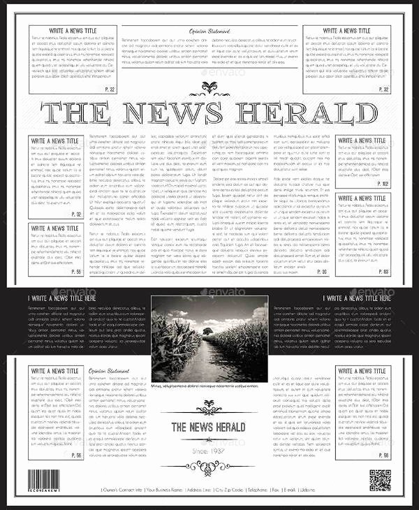 Free Newspaper Template for Word Best Of Free 53 Amazing Newspaper Templates In Pdf Ppt Word