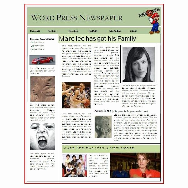 Free Newspaper Template for Word Elegant Newspaper Layout Templates Excellent sources to Help You