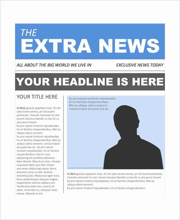 Free Newspaper Template for Word Fresh Newspaper Headline Template