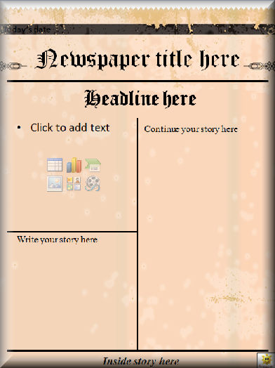Free Newspaper Template for Word Inspirational Literacy