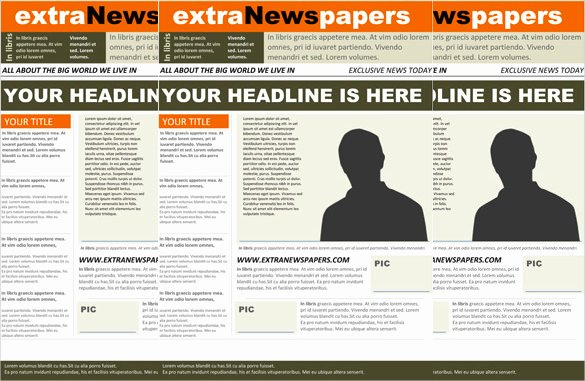 Free Newspaper Template for Word Luxury Newspaper Headline Template 12 Free Word Ppt Psd Eps