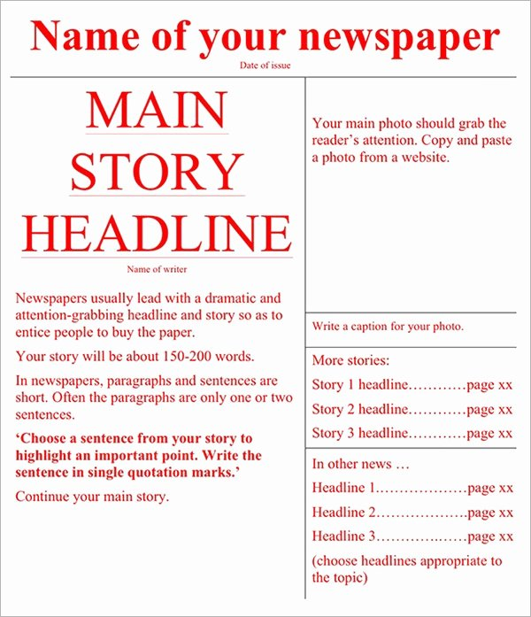 Free Newspaper Template for Word Luxury Newspaper Template 19 Download Free Documents In Pdf