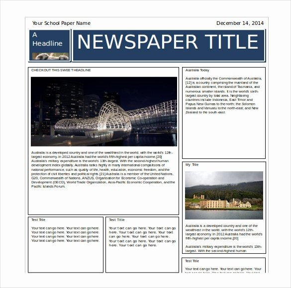 Free Newspaper Template for Word New 14 Word Newspaper Templates Free Download