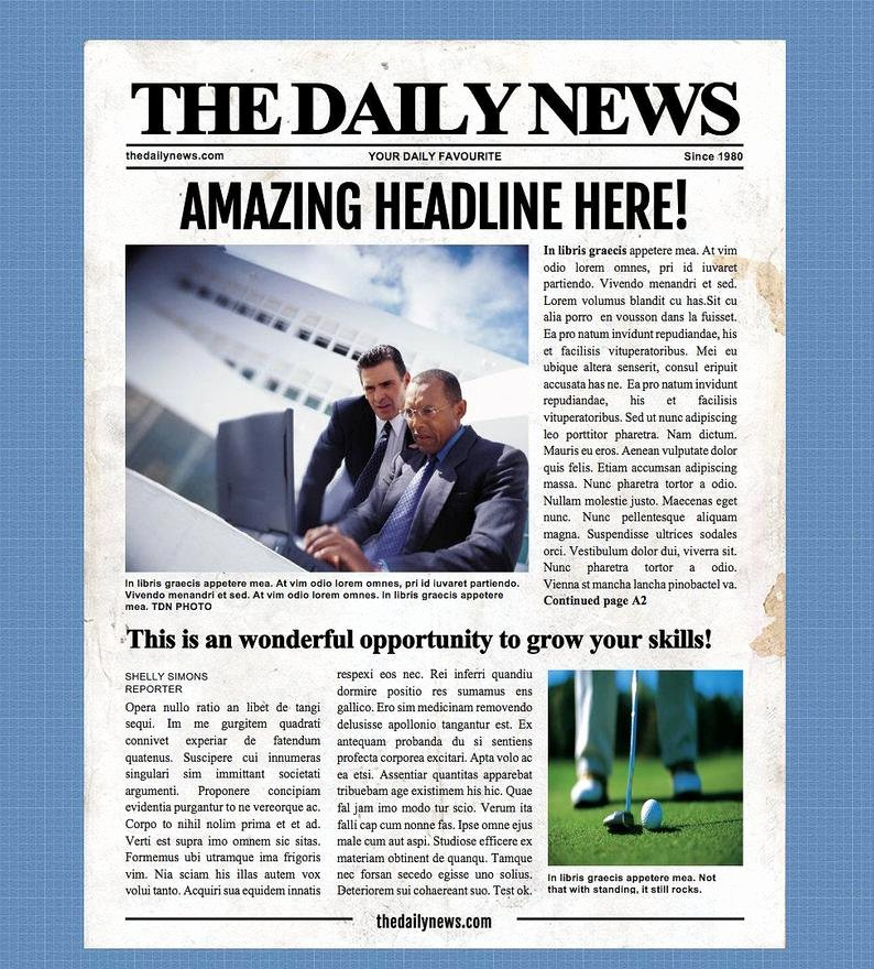 Free Newspaper Template for Word New 4 Page Newspaper Template Microsoft Word 8 5x11 Inch
