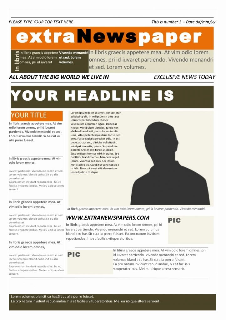 Free Newspaper Template for Word Unique 26 Newspaper Templates Free Word Pdf Psd Indesign