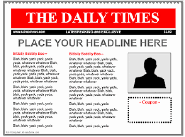Free Newspaper Template for Word Unique 9 Newspaper Templates Word Excel Pdf formats