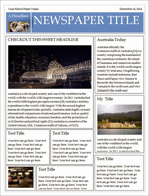 Free Newspaper Template for Word Unique Best Newspaper Templates Free Download