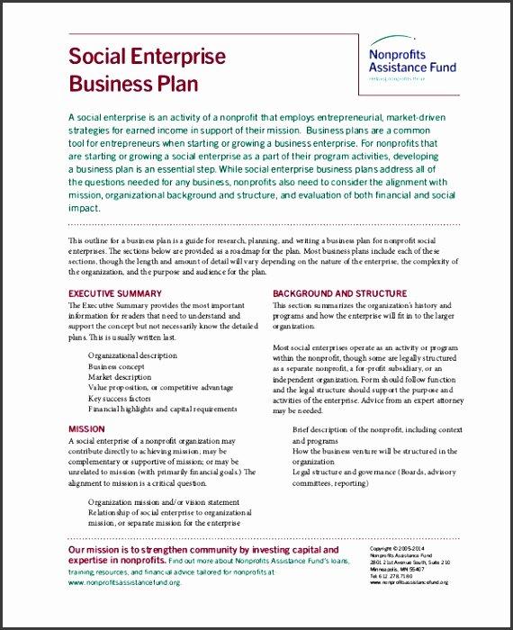 Free Nonprofit Business Plan Template Inspirational 5 Nonprofit Business Plan Template Sampletemplatess