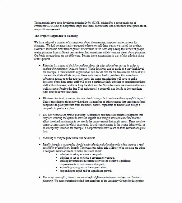 Free Nonprofit Business Plan Template Lovely Business Plan Template 111 Free Word Excel Pdf format